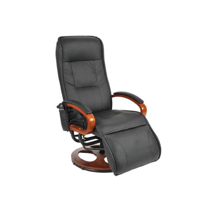 fauteuil de relaxation noir 10 programmes achat vente fauteuil noir cdiscount. Black Bedroom Furniture Sets. Home Design Ideas