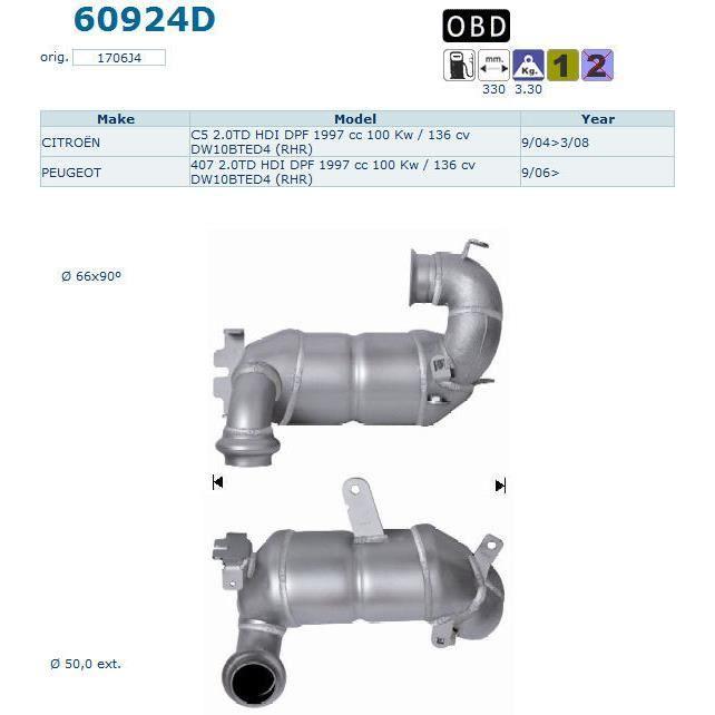 pot catalytique peugeot 407 magnaflow achat vente pot catalytique pot catalytique peugeot