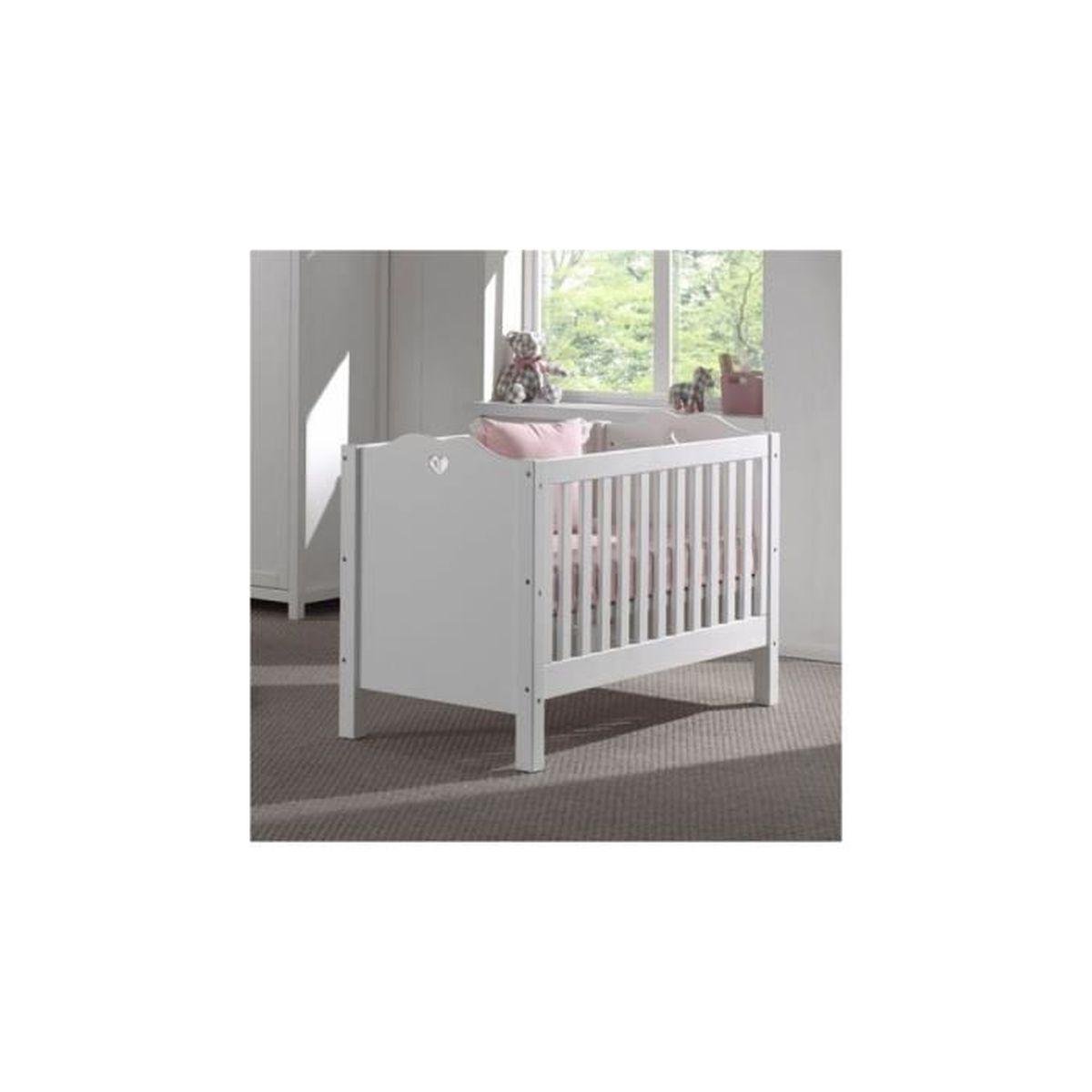 vipack lit bebe blanc amori achat vente lit b b 5420070220743 cdiscount. Black Bedroom Furniture Sets. Home Design Ideas