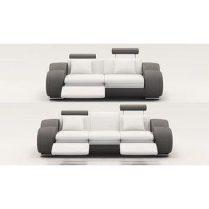 canape cuir 2 places design achat vente canape cuir 2 places design pas cher cdiscount. Black Bedroom Furniture Sets. Home Design Ideas