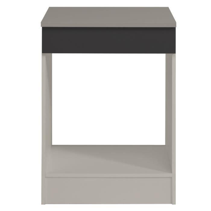cook meuble bas de cuisine 60 cm avec plan de travail inclus d cor gris achat vente. Black Bedroom Furniture Sets. Home Design Ideas