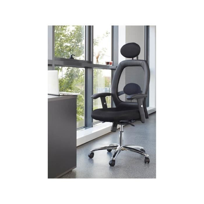 fauteuil de bureau ministre herm s 69 x 63 x 112 cm noir achat vente armoire de chambre. Black Bedroom Furniture Sets. Home Design Ideas