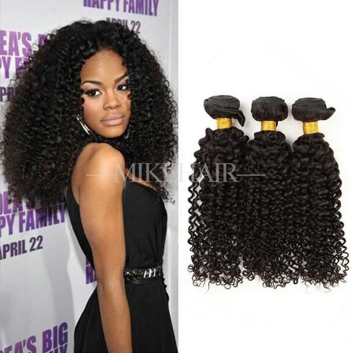 prix d 39 usine 3 tissage curly extensions cheveux humain naturel bresilien remy hair 100g pc. Black Bedroom Furniture Sets. Home Design Ideas