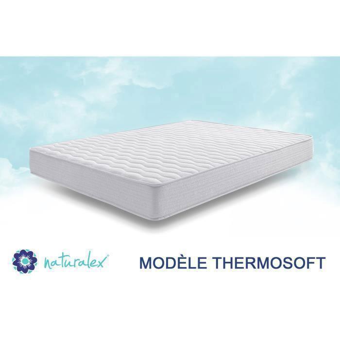 matelas thermosoft 20 cm 160x200 cm en blue latex mousse m moire naturalex achat vente. Black Bedroom Furniture Sets. Home Design Ideas