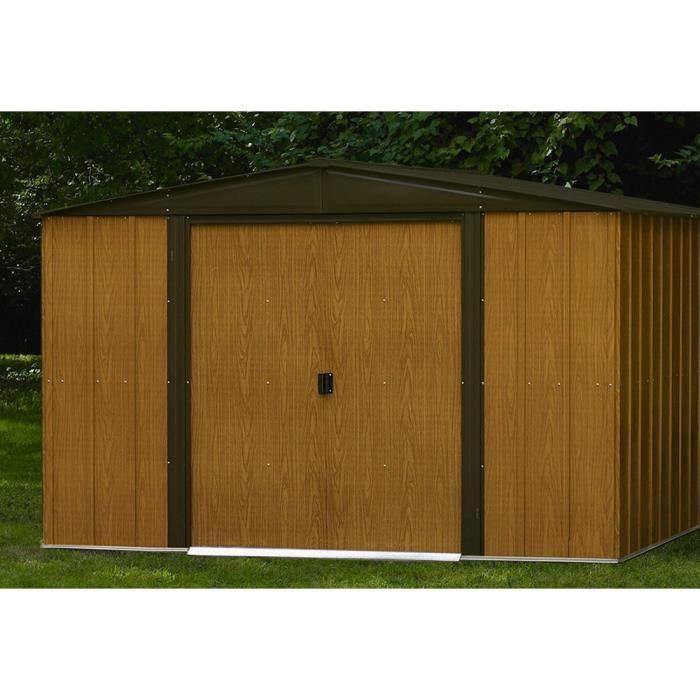 Abri de jardin m tal de 11 6 m 313 x 370 x 185 cm achat vente abri jardin chalet abri de - Abri de jardin yardmaster m angers ...