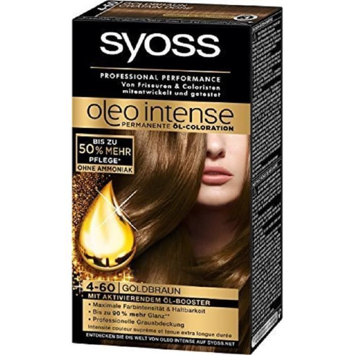 coloration coloration syoss oleo intense 4 60 chtain dor - Coloration 60