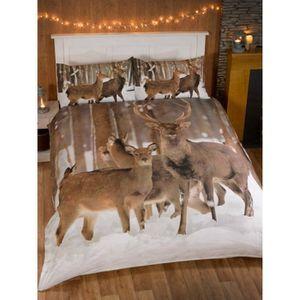 housse de couette cerf achat vente housse de couette cerf pas cher les soldes sur. Black Bedroom Furniture Sets. Home Design Ideas