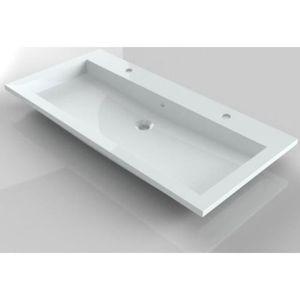 vasque 100 cm achat vente vasque 100 cm pas cher les soldes sur cdiscount cdiscount. Black Bedroom Furniture Sets. Home Design Ideas