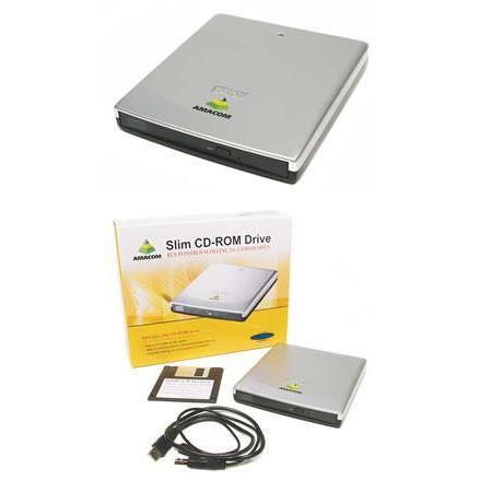 amacom slimline lecteur de disque cd rom 24x achat vente lecteur graveur externe. Black Bedroom Furniture Sets. Home Design Ideas