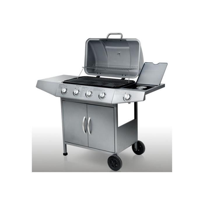 Barbecue gaz avec 5 br leurs achat vente barbecue barbecue gaz avec 5 - Vente privee barbecue gaz ...