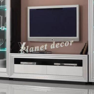Meuble Tv Plasma Silver Noir-Blanc - Achat / Vente meuble ...