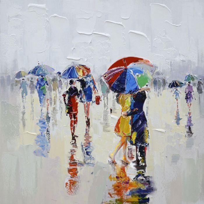 Cadre contemporain parapluie 80 x 80 cm achat vente for Cadre contemporain