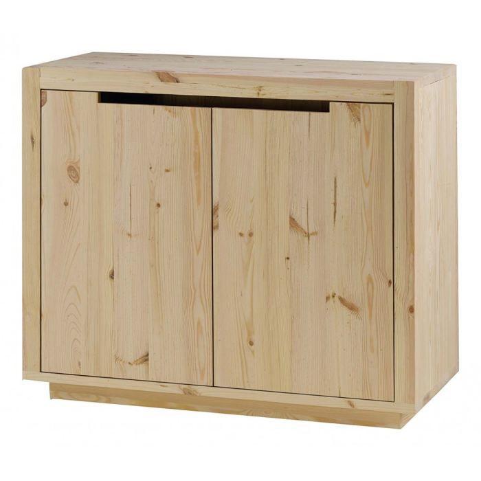 Rangement pin massif brut 2 portes customize co achat - Petit meuble de rangement en pin ...