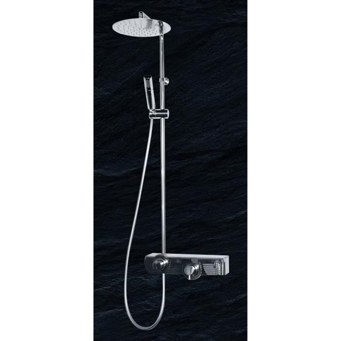 Colonne de douche mitigeur thermostatique jolly drop blanche achat vente - Colonne de douche blanche ...
