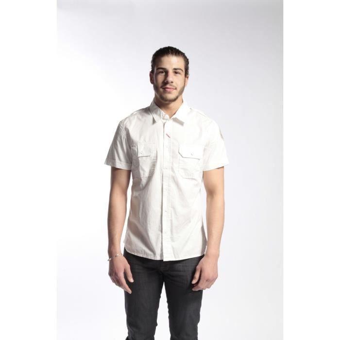 chemise schott cmchornet nouvelle cllection blanc achat vente chemise chemisette cdiscount. Black Bedroom Furniture Sets. Home Design Ideas
