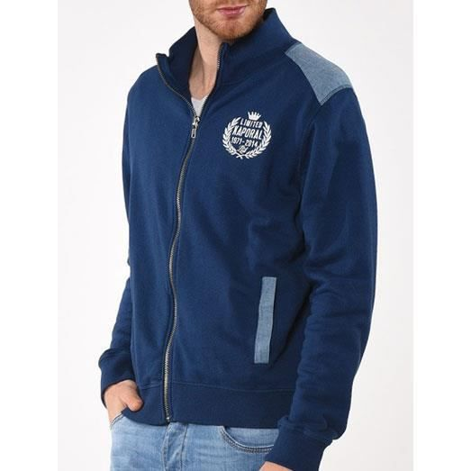 gilet sweat veste kaporal 5 jeans homme zolta bleu marine bleu bleu marine achat vente gilet. Black Bedroom Furniture Sets. Home Design Ideas