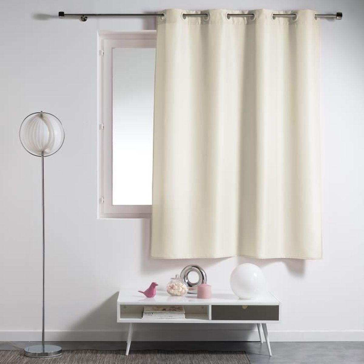 rideau oeillets 140x180 essentiel naturel achat vente rideau cdiscount. Black Bedroom Furniture Sets. Home Design Ideas