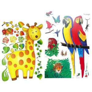 stickers animaux chambre bebe achat vente stickers. Black Bedroom Furniture Sets. Home Design Ideas