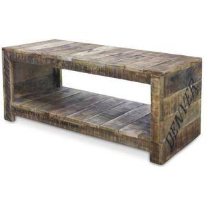 Table basse vintage en bois achat vente table basse - Table basse bois pas cher ...