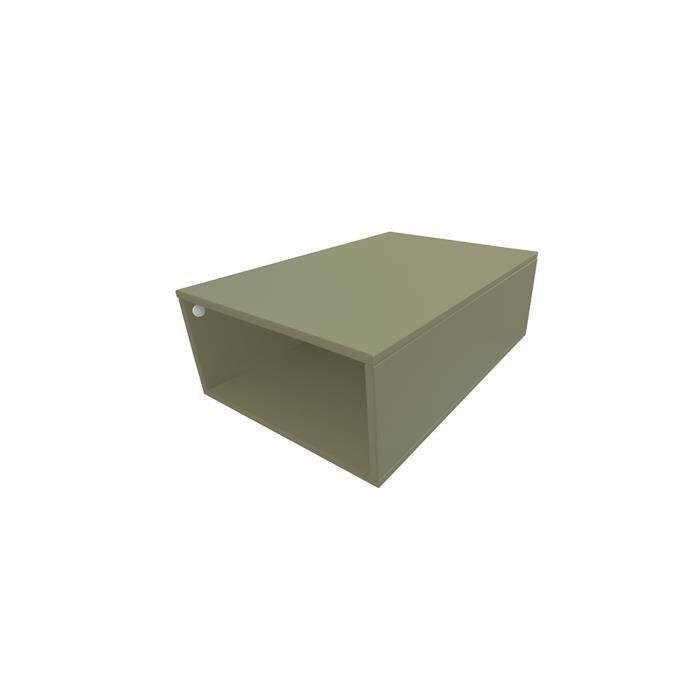 Cube de rangement bois largeur 75 cm achat vente petit - Meuble rangement largeur 30 cm ...