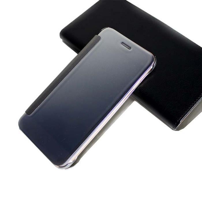 Placage mirror flip fen tre intelligent coque iphone 7 for Mirror 700 x 700