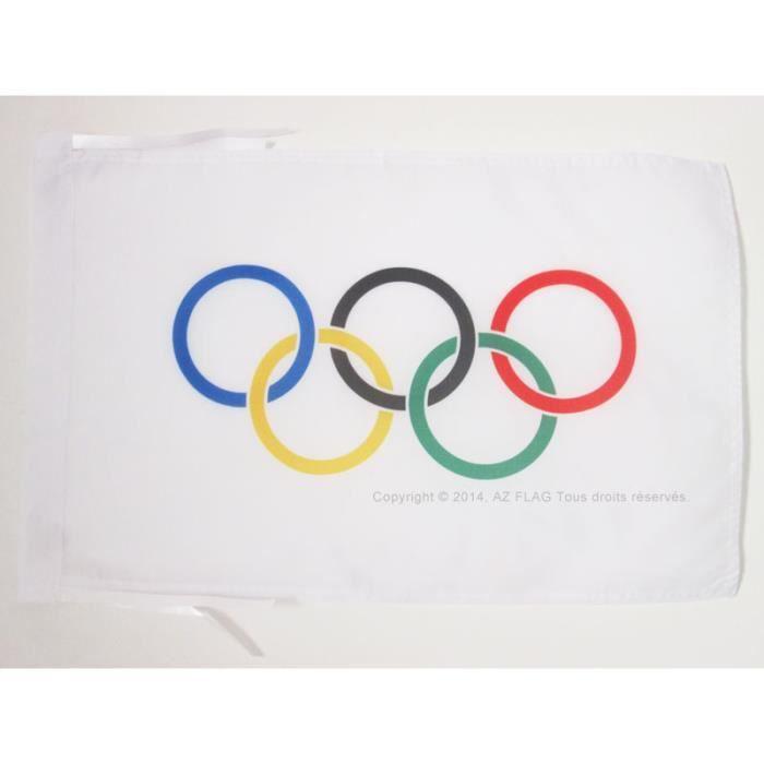 Drapeau olympique 45x30cm olympique haute qualit for Linge de maison haute qualite
