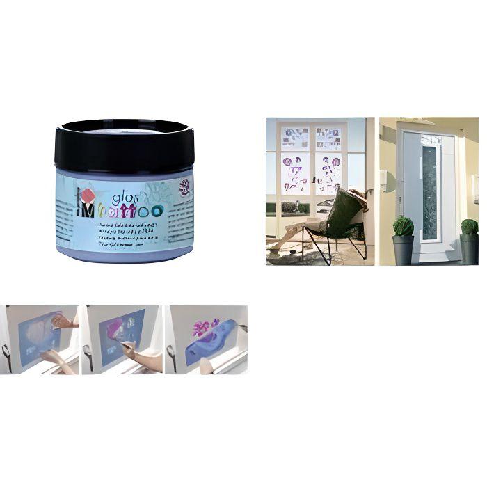 peinture pochoir pour vitre glastattoo lilas achat. Black Bedroom Furniture Sets. Home Design Ideas