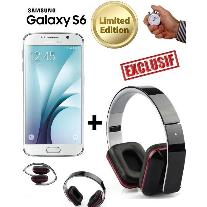 samsung s6 blanc g920 neuf casque pliable achat. Black Bedroom Furniture Sets. Home Design Ideas