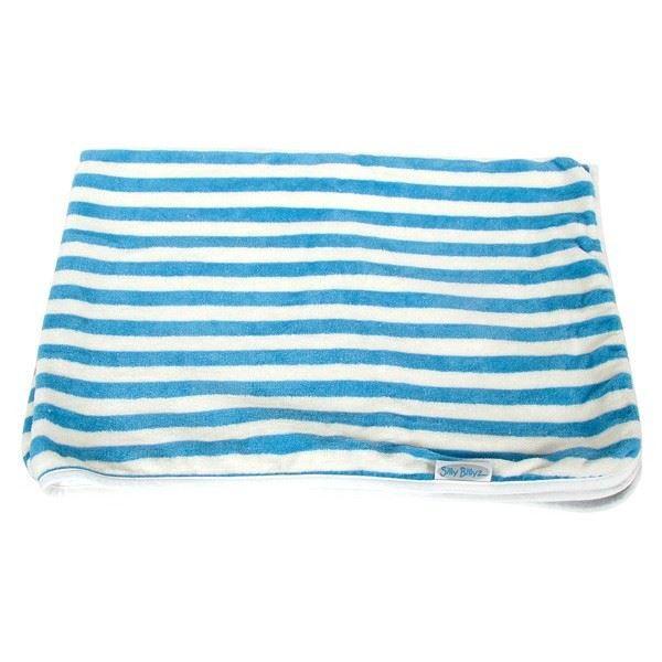 Couverture en coton bio ray e bleu naturel si achat - Couverture en coton ...