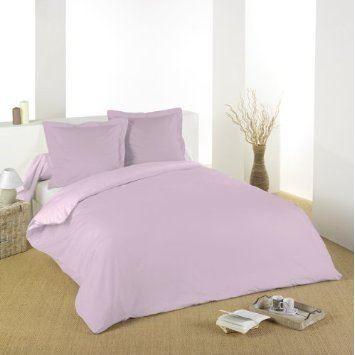 housse de couette 220x240cm gamme alicia poudre rose. Black Bedroom Furniture Sets. Home Design Ideas