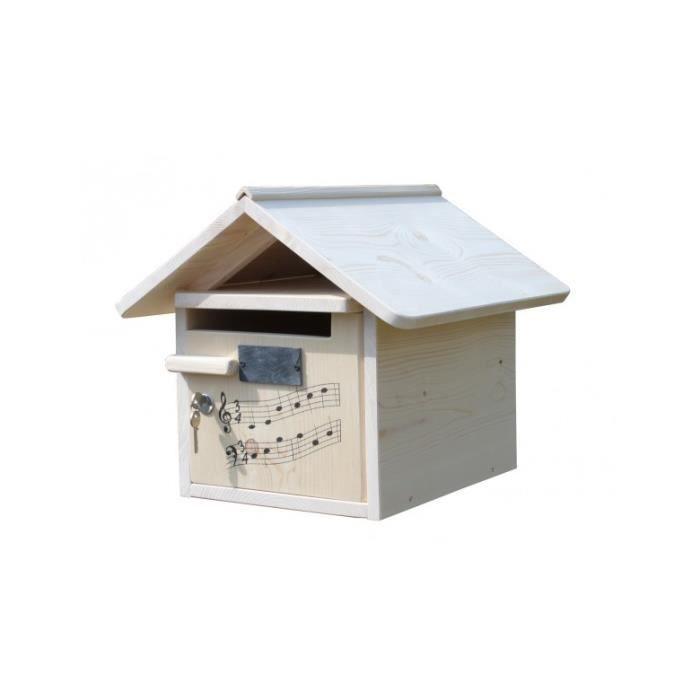 boite aux lettres bois creastuce domiciladore 1 porte achat vente boite aux lettres. Black Bedroom Furniture Sets. Home Design Ideas