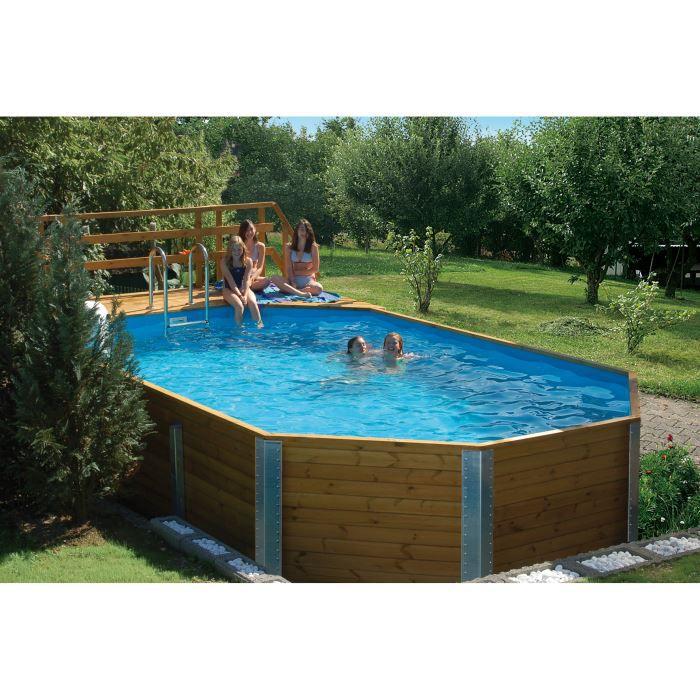 Piscine en bois massif korfu 1 weka achat vente kit piscine piscine en bo - Piscine bois discount destockage ...