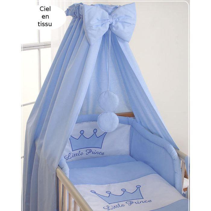 Ciel de lit b b en tissu prince bleu achat vente ciel de lit b b ciel de lit b b en tissu - Ciel de lit bleu ...