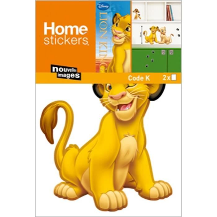 stickers meubles le roi lion simba 2 planches achat vente stickers cdiscount. Black Bedroom Furniture Sets. Home Design Ideas