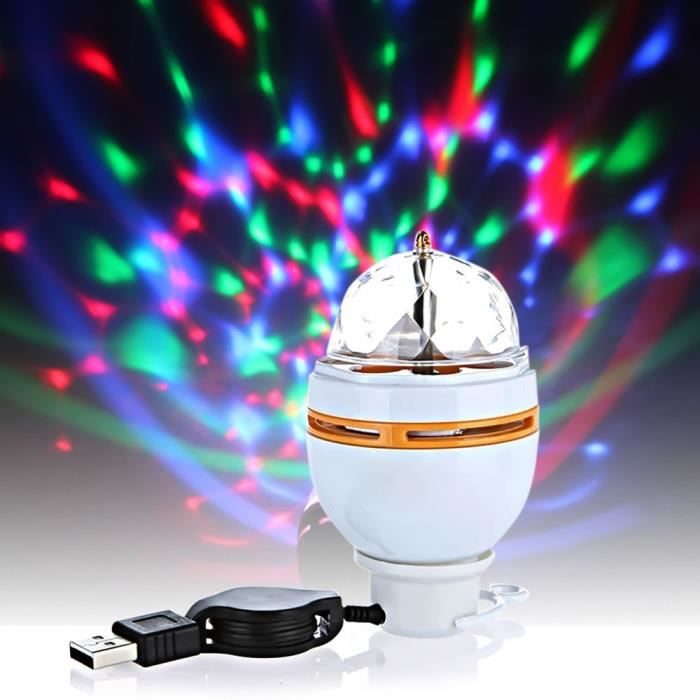 elisona jeu de lumi re dj nouveaux club disco dj party 3w led usb mini portable lampe et spot. Black Bedroom Furniture Sets. Home Design Ideas