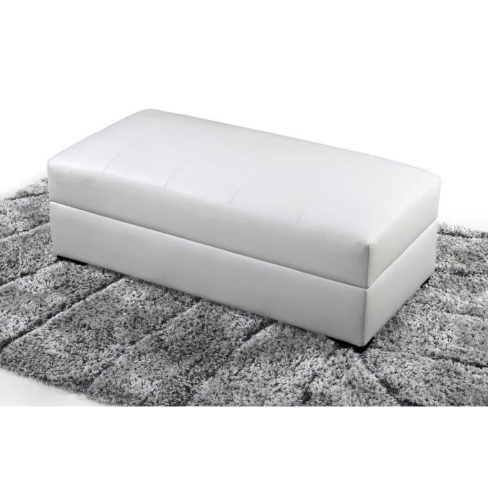 Meridienne coffre et table basse iulia blanche achat vente m ridienne c - Meridienne coffre rangement ...