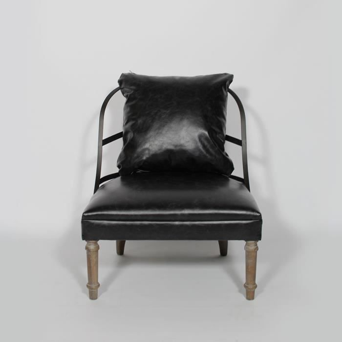 Fauteuil crapaud brooklyn aspect cuir aspect cuir achat vente fauteuil - Fauteuil crapaud moderne ...