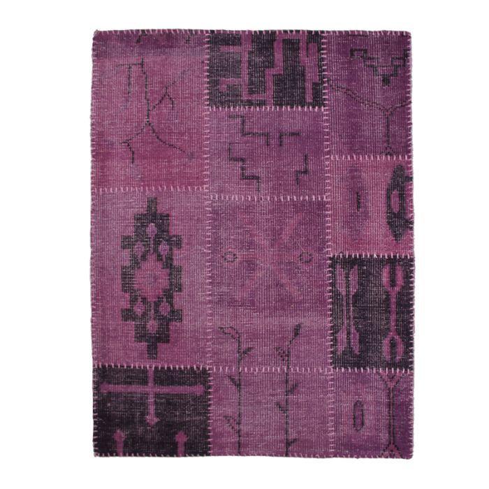 tapis patchwork laine fait main antic line art achat vente tapis cdiscount. Black Bedroom Furniture Sets. Home Design Ideas