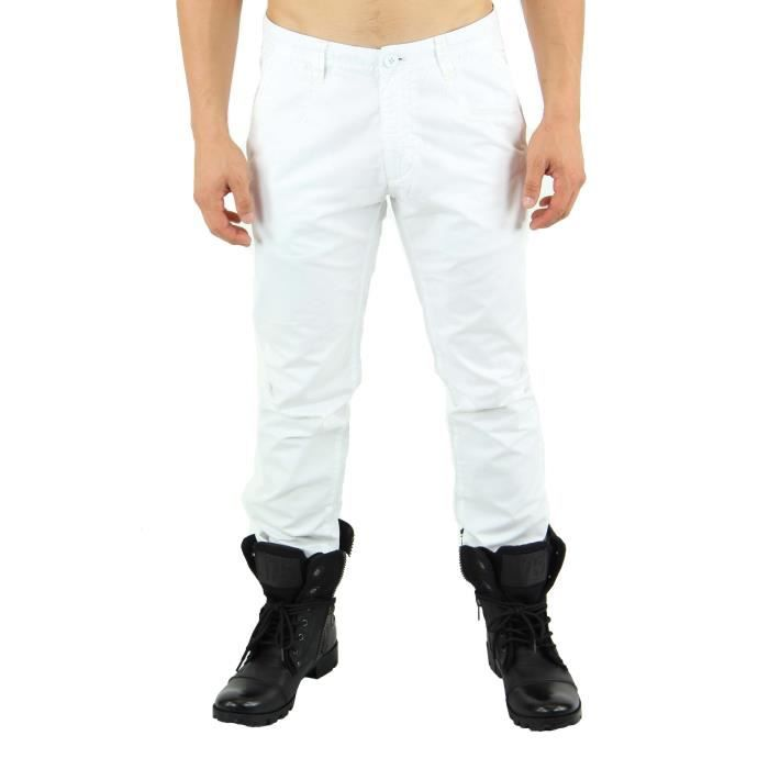 pantalon homme de ville blanc blanc achat vente pantalon pantalon homme de ville. Black Bedroom Furniture Sets. Home Design Ideas