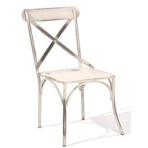 Chaise metal vieilli achat vente chaise metal vieilli for Chaise metal blanc