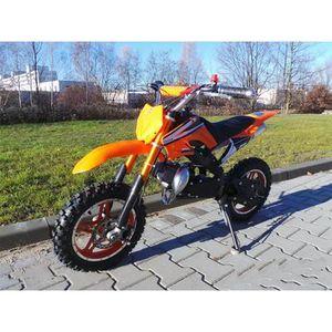 MOTO Mini moto cross enfant enduro 49cc orange