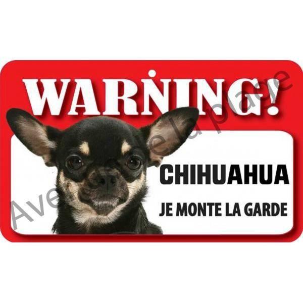 plaque attention au chien chihuahua achat vente plaque de porte cdiscount