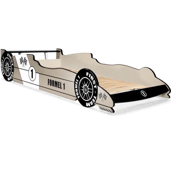 Lit voiture f1 formule 1 gris coins arrondis achat vente lit complet - Lit voiture formule 1 ...