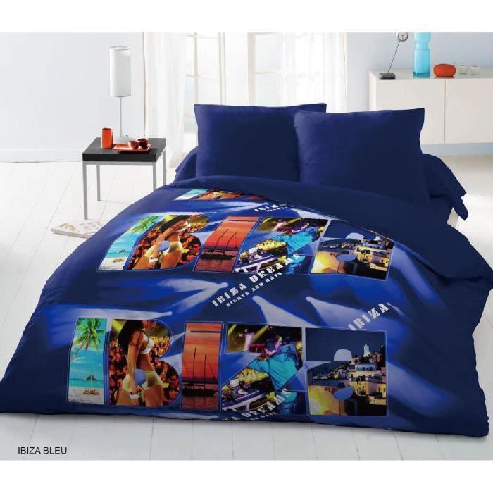 parure de couette microfibre ibiza une housse de couette 220x240cm 2 taies d 39 oreillers. Black Bedroom Furniture Sets. Home Design Ideas
