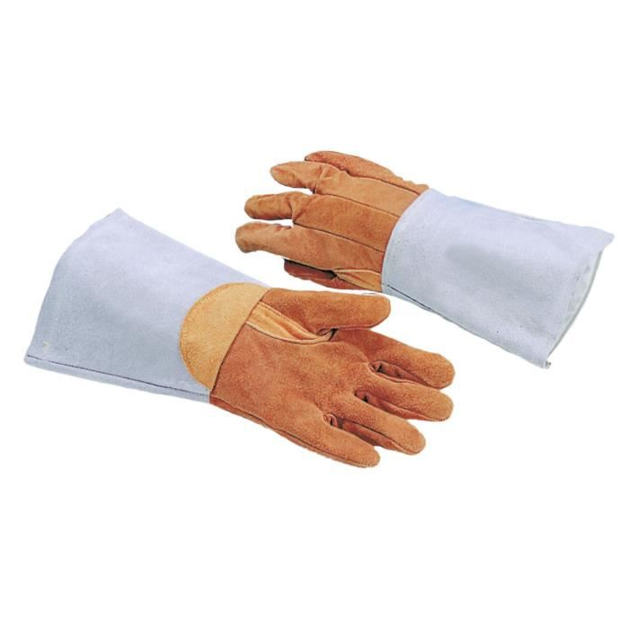 gant de protection cuir traite anti chaleur 300 c cuisine cuisson ustensiles achat. Black Bedroom Furniture Sets. Home Design Ideas