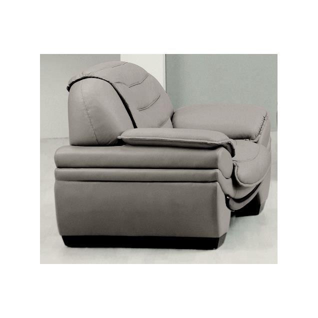 Fauteuil 1 place en cuir italien benson achat vente fauteuil beige c - Fauteuil cuir italien ...