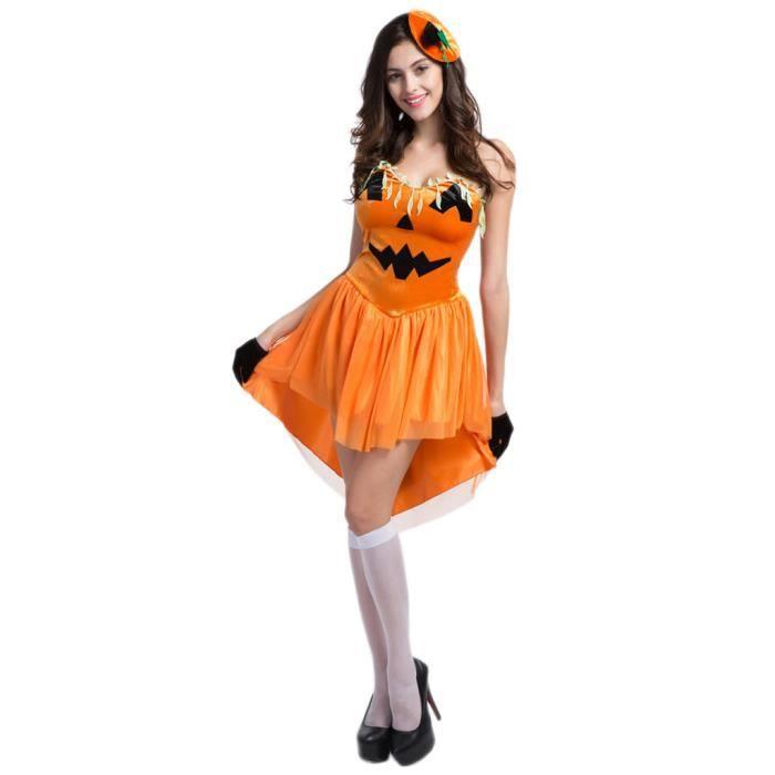 Femme Halloween D Guisement Uniforme De Citrouille Costume Cosplay Achat Vente D Guisement