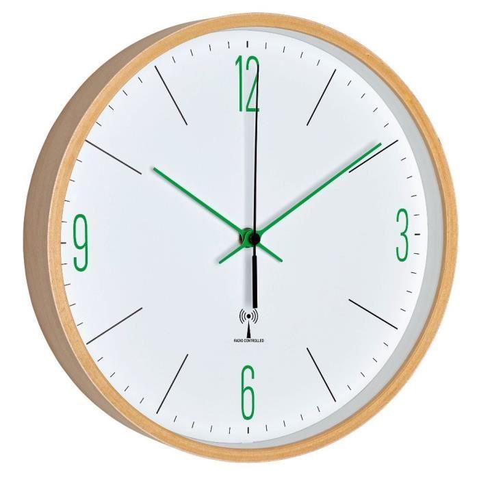 Tfa horloge murale sans fil vert achat vente horloge cdiscount - Horloge murale led sans fil ...