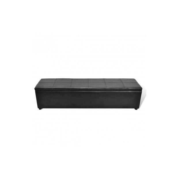 Banc banquette coffre de rangement noir taille large achat vente banquett - Coffre de rangement noir ...