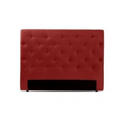 t te de lit 160 cm enza simili rouge cerise achat vente t te de lit cdiscount. Black Bedroom Furniture Sets. Home Design Ideas